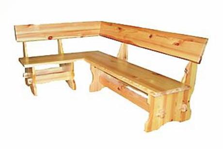 Угловая скамейка из дерева со спинкой чертежи